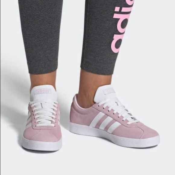 adidas Shoes | Classic Pink White Vl